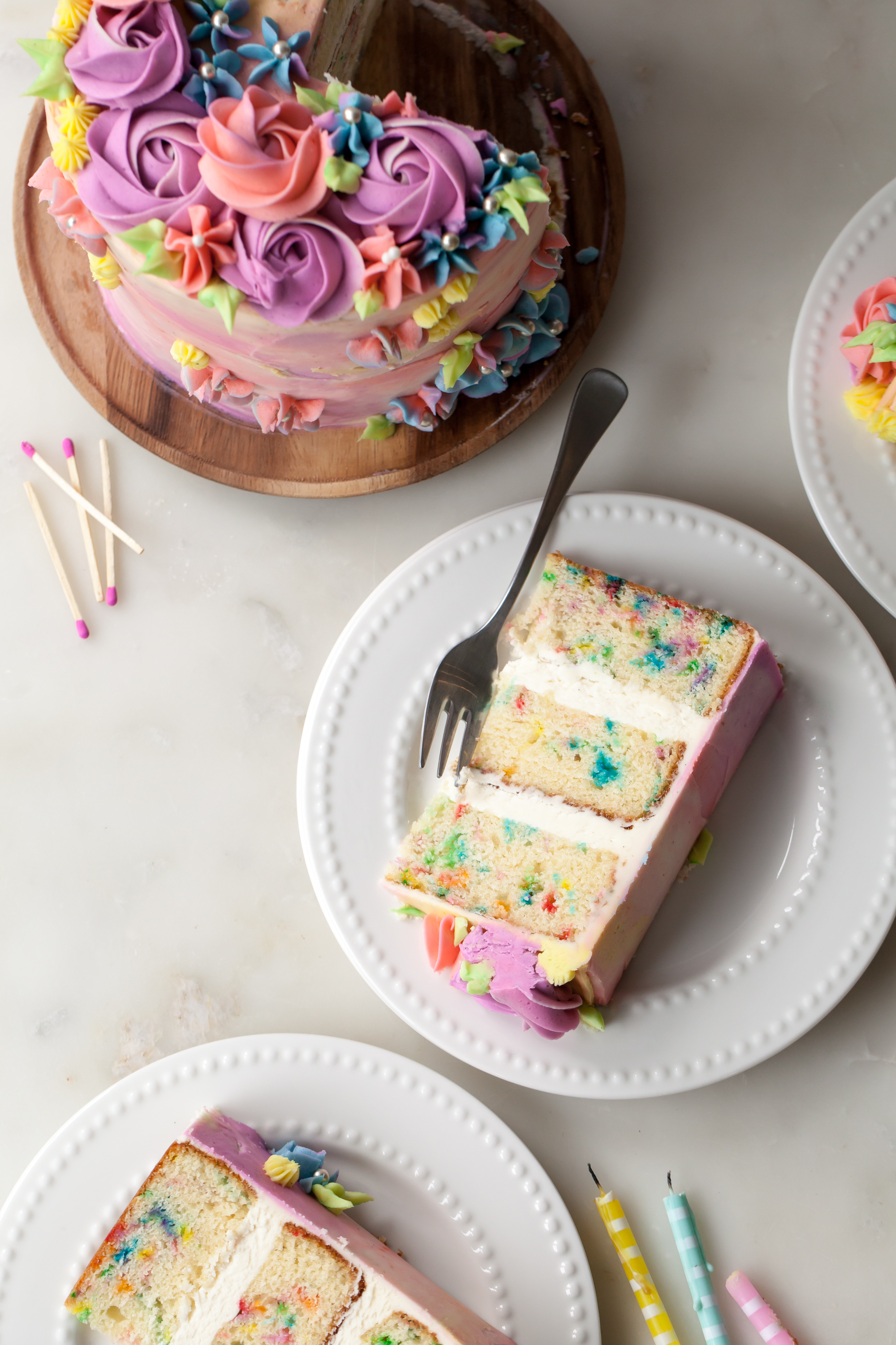 sprinkle birthday cake recipe with vanilla frosting