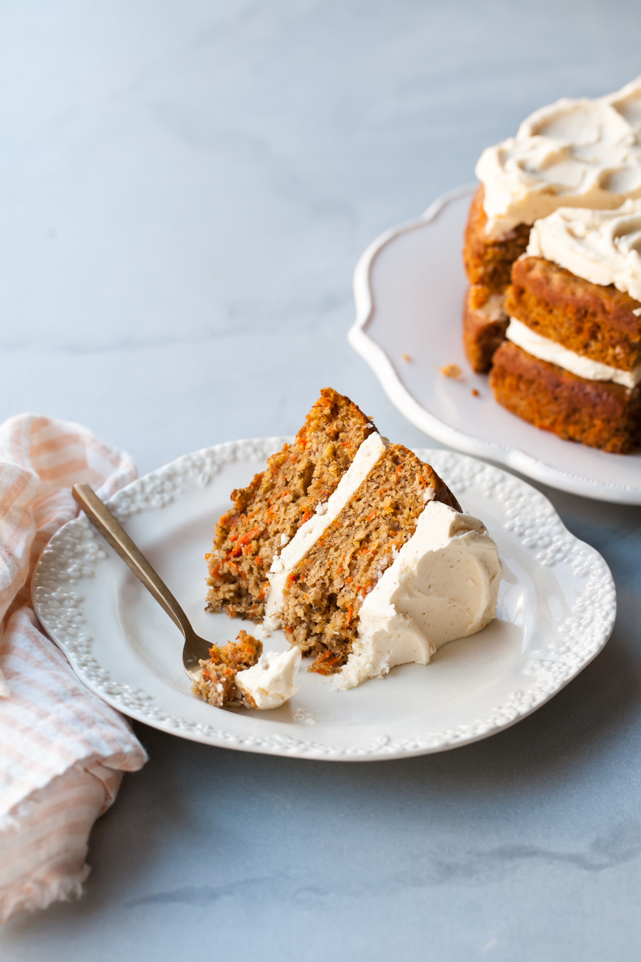 The best Carrot Cake Recipe with brown butter frosting