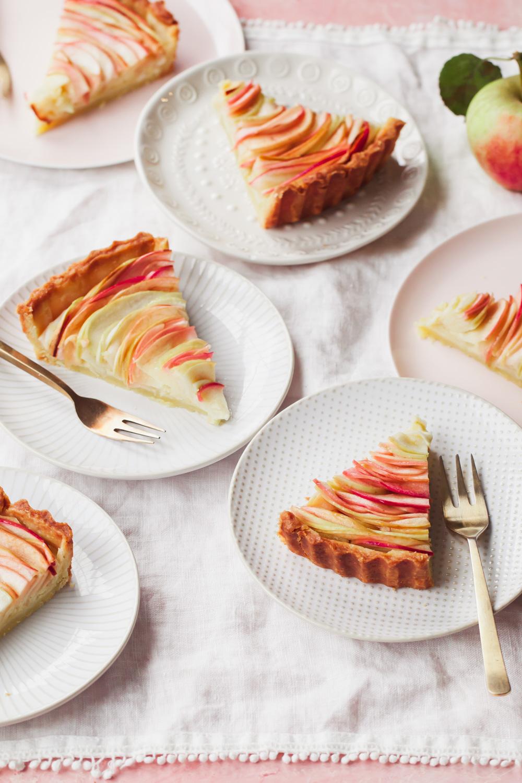 French Apple Rose Tart Recipe with almond frangipane