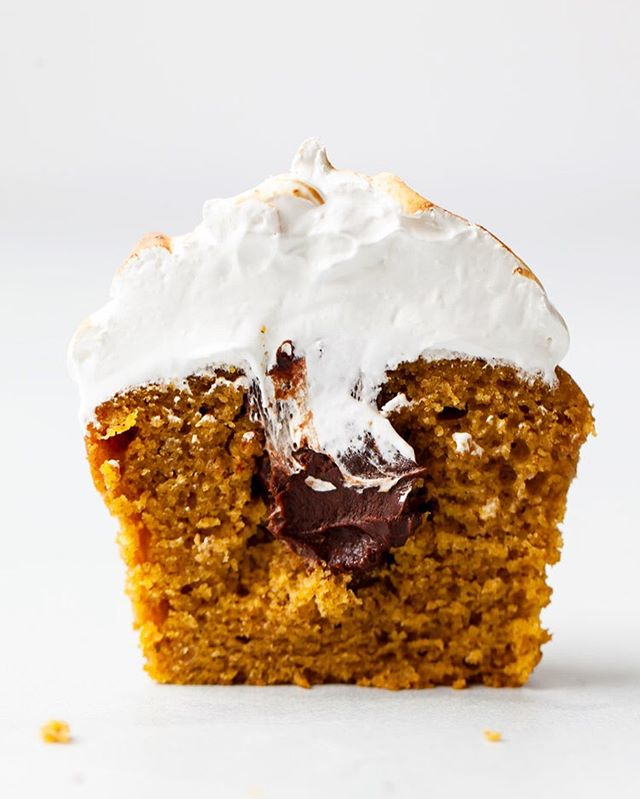 "PUMPKIN S'MORES CUPCAKES 🌟Now that I've got you craving pumpkin with yesterday's post, I'm bringing back this star of a recipe from last fall!! It's. So. Dang. Good. Moist pumpkin cake, decadent ganache filling, and toasted marshmallowy meringue frosting. Did you try it last year? Will you be making these again this season? I know I will be 😘 Recipe is on stylesweet.com under ""Desserts & Pastries"" (or just use the search bar). You're going to love them!! * * * * * *  #stylesweetdaily  #bhgfood #abmlifeissweet #f52grams #foodblogfeed @foodblogfeed #thebakefeed #imsomartha #lifeandthyme #thekitchn  #foodwinewomen #thesugarfiles #bakefromscratch #bakersofinstagram #bombesquad #fbcigers #tohfoodie #wsbakeclub  #kingarthurflour #foodie #foodphotography  #fallbaking #psl #pumpkinspice #cupcakedecorating #cupcakeinspiration #smores #makemore #feedfeedbaking"