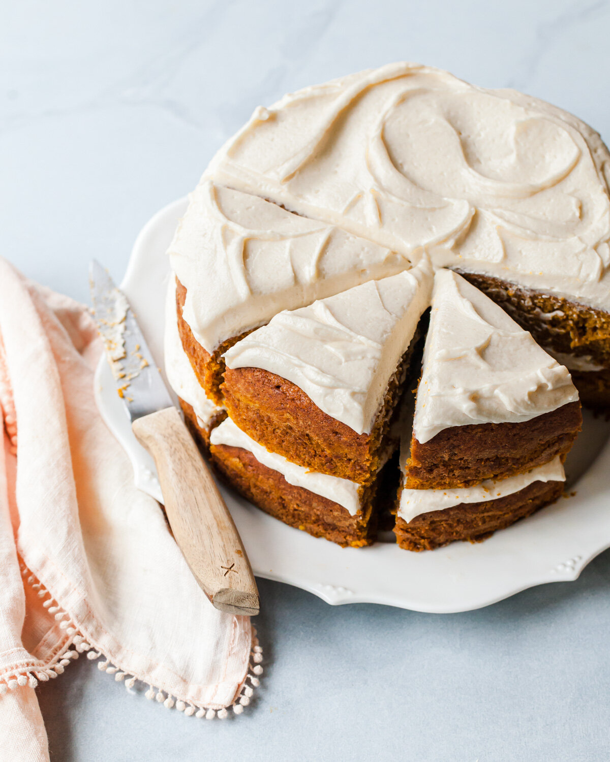 The Best Pumpkin Cake Recipe with Maple Cream Cheese Frosting