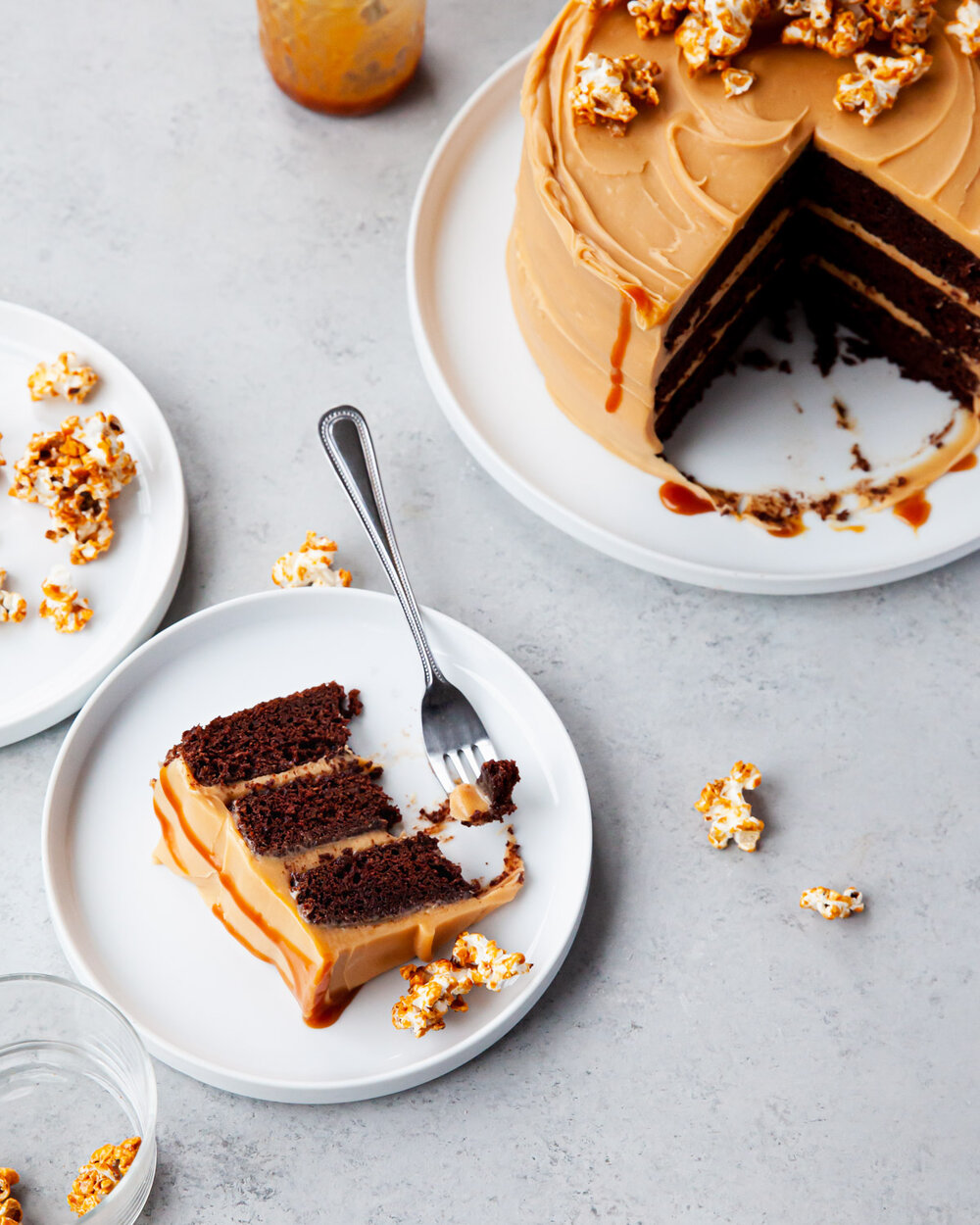 Chocolate Stout Cake with Caramel Buttercream