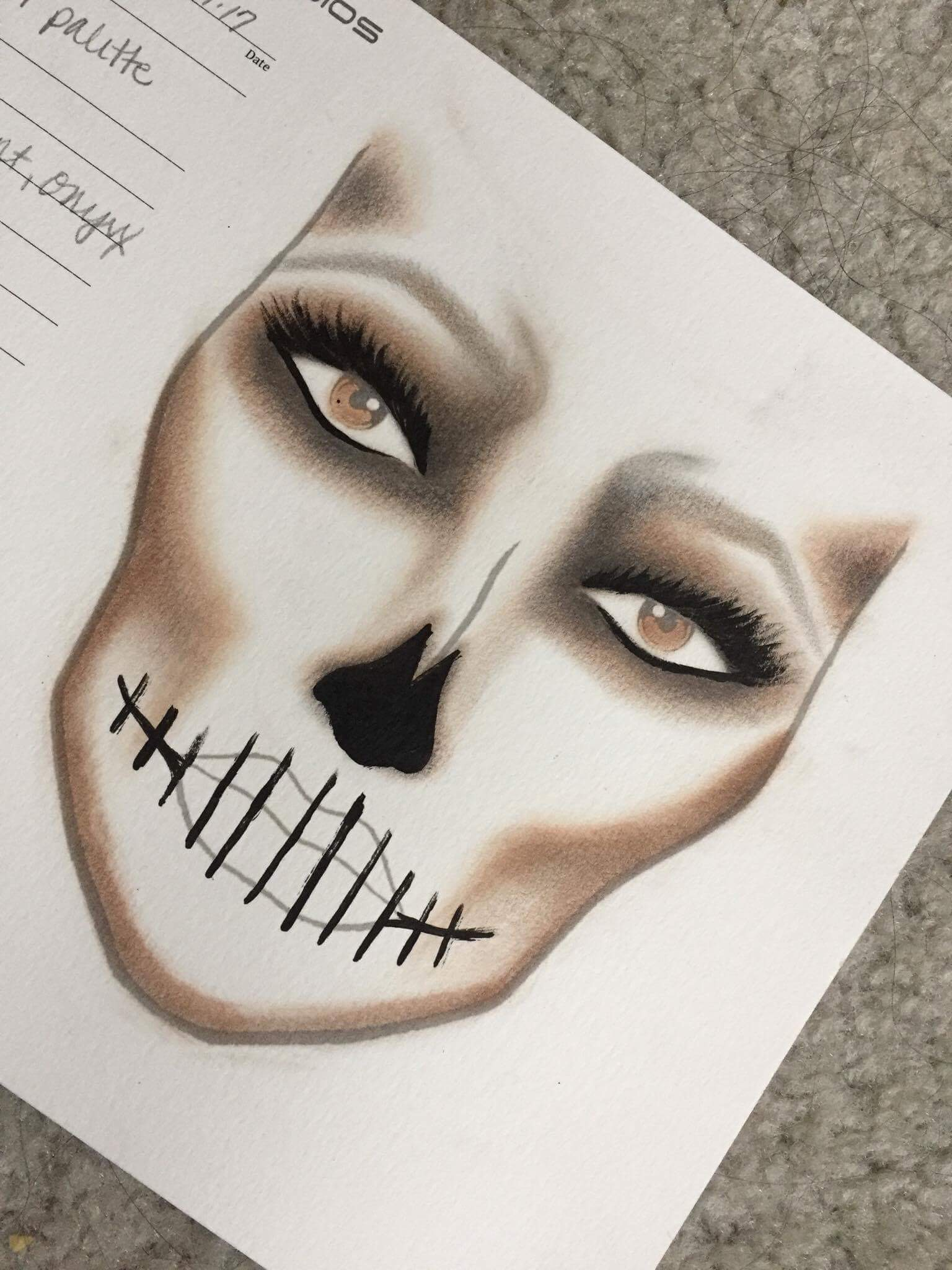 Face Chart     by  Kristina Stuller