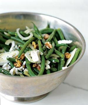 Green Bean Salad with Walnuts, Fennel, and Goat Cheese  - via Real Simple
