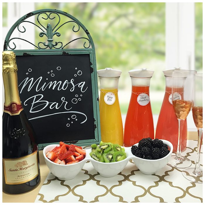 DIY Mimosa Bar - MelindaGale.com
