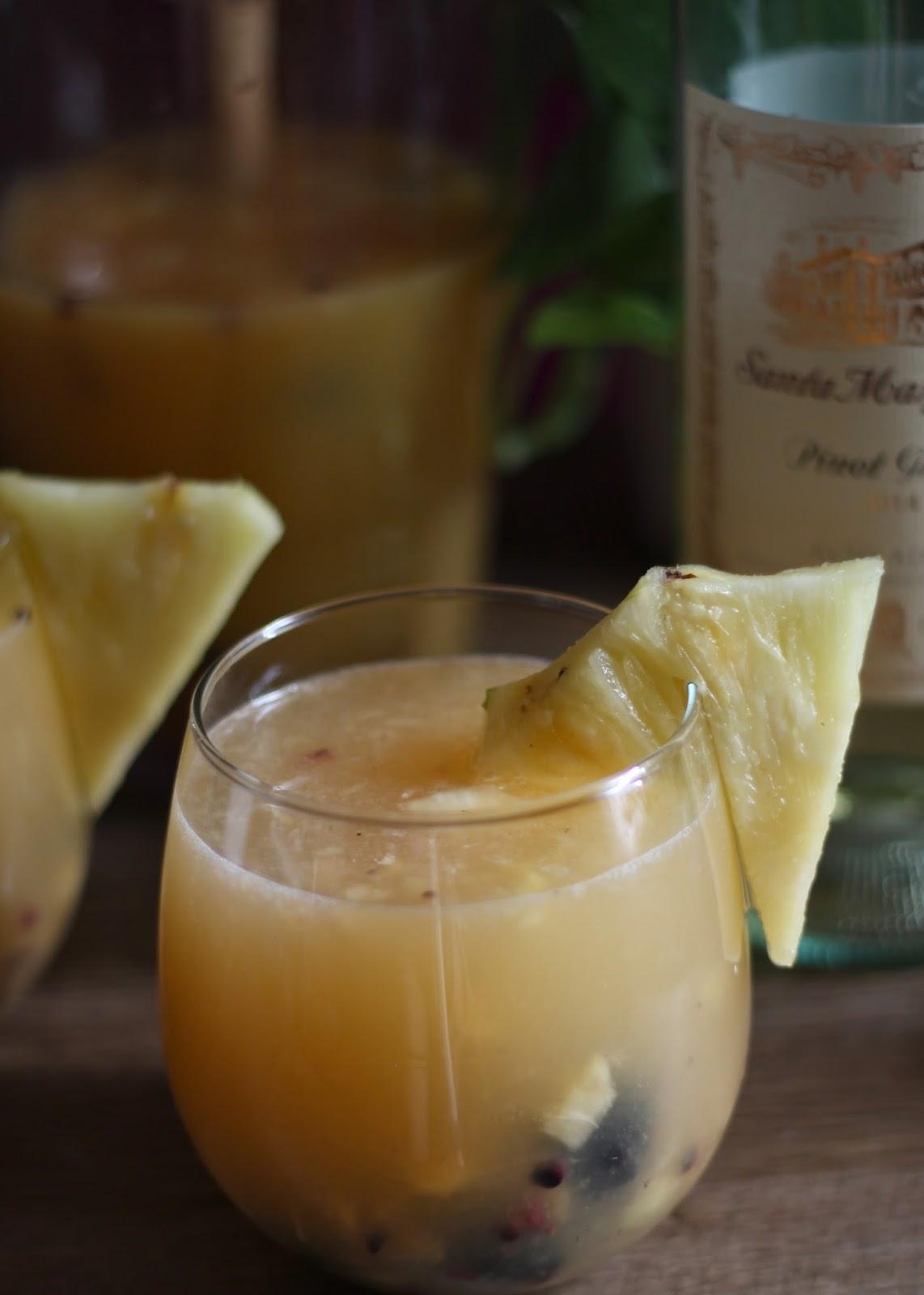 Pineapple Sangria - MelindaGale.com