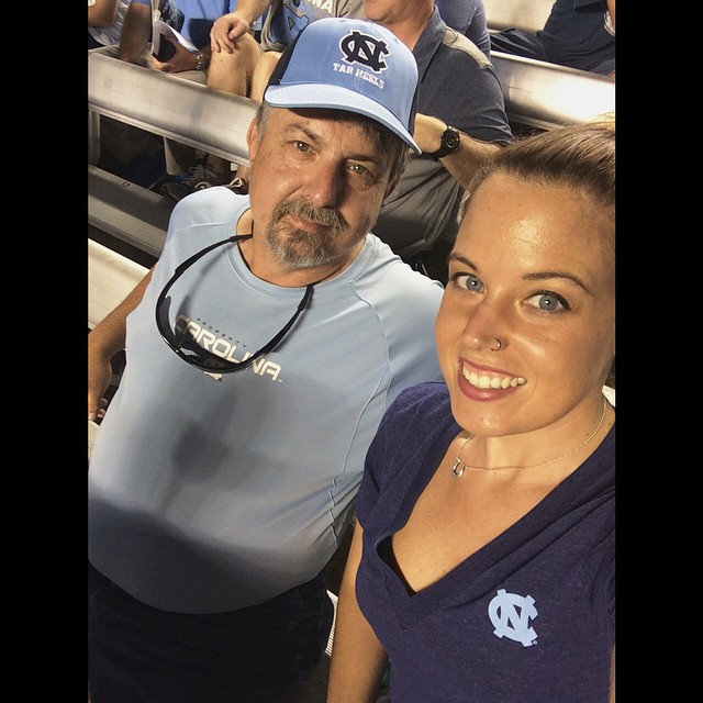 Sweaty nights in Kenan with Dad!