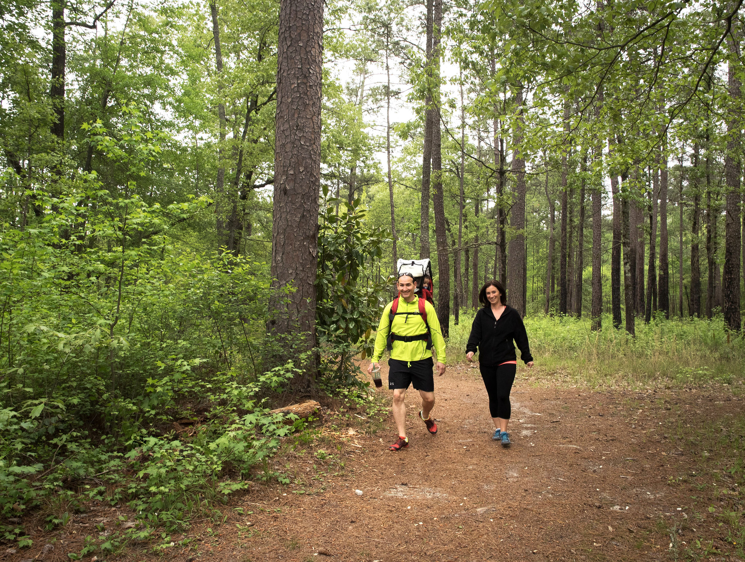 Hikers in Carvers Creek State Park