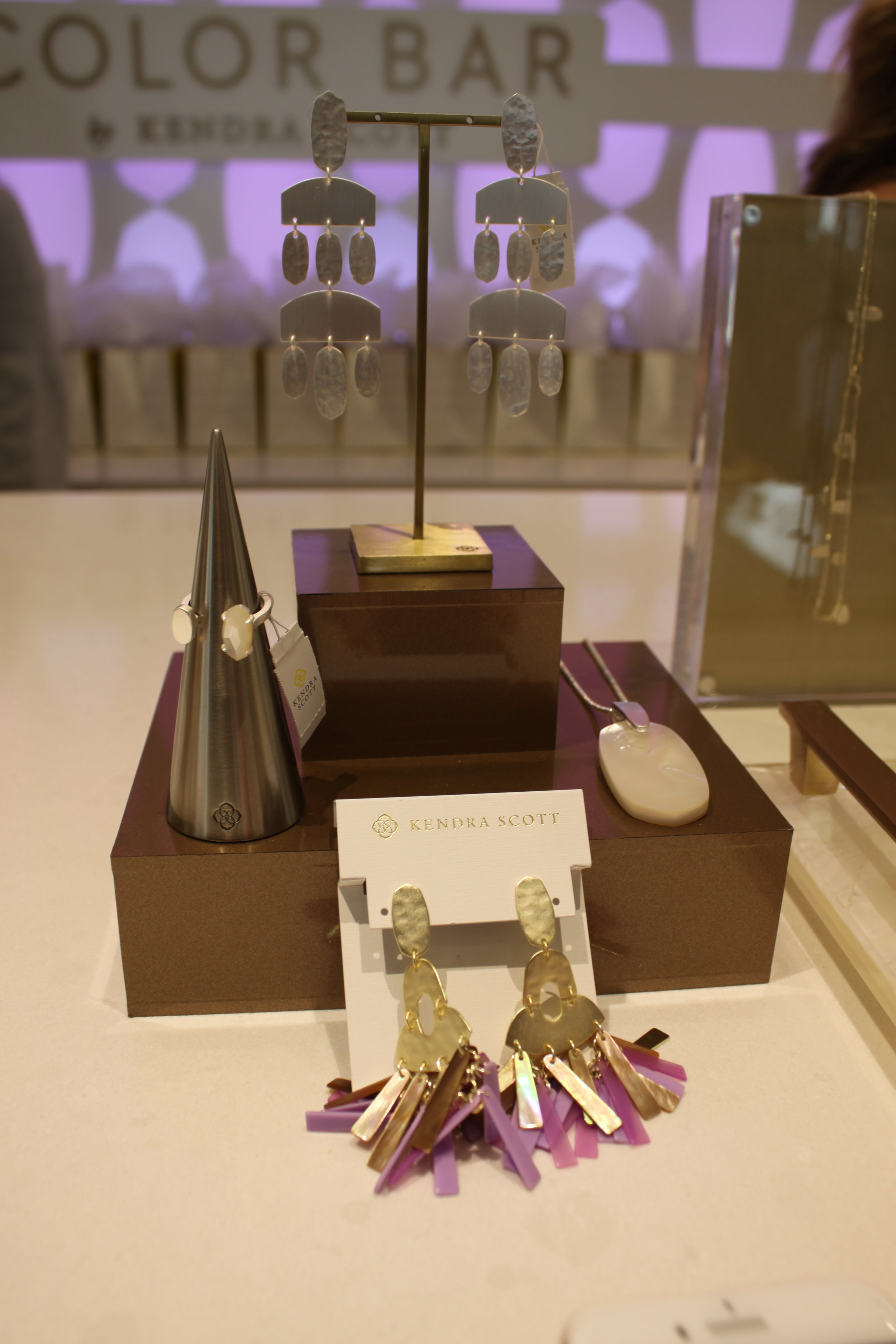 Justyne Statement Earrings,  Inez Pendant Necklace,  Pryde Open Ring