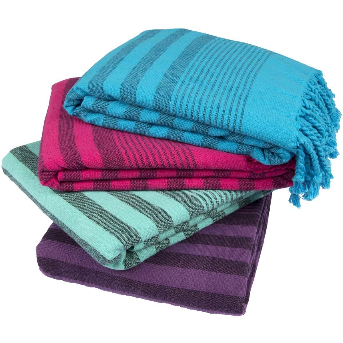 Turkish Towel Set of 4 Bath and Beach Towels - $39.95