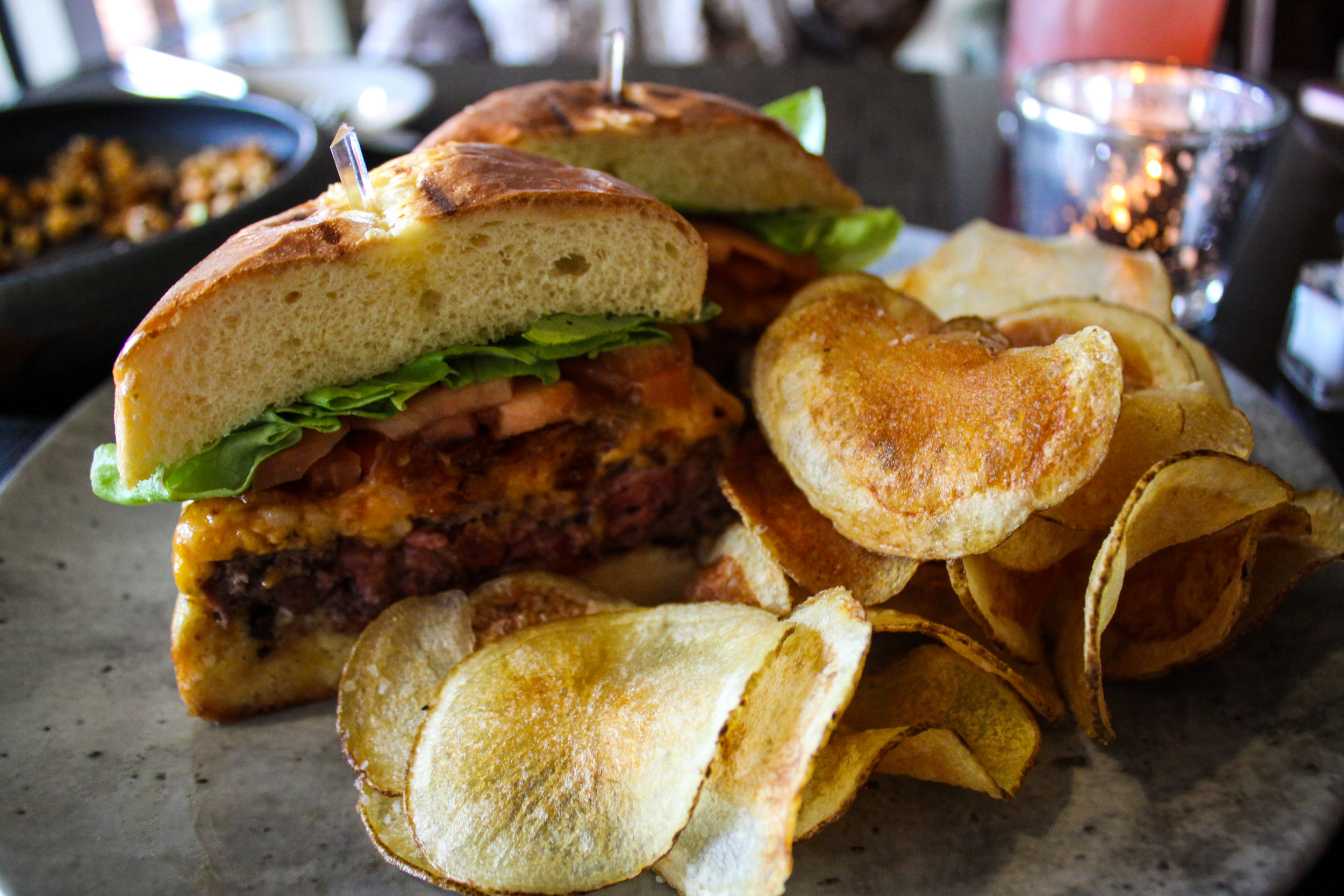 Seaboard Burger + House Bacon + House Pimiento Cheese + Smoked Duke's Mayo + LTOP