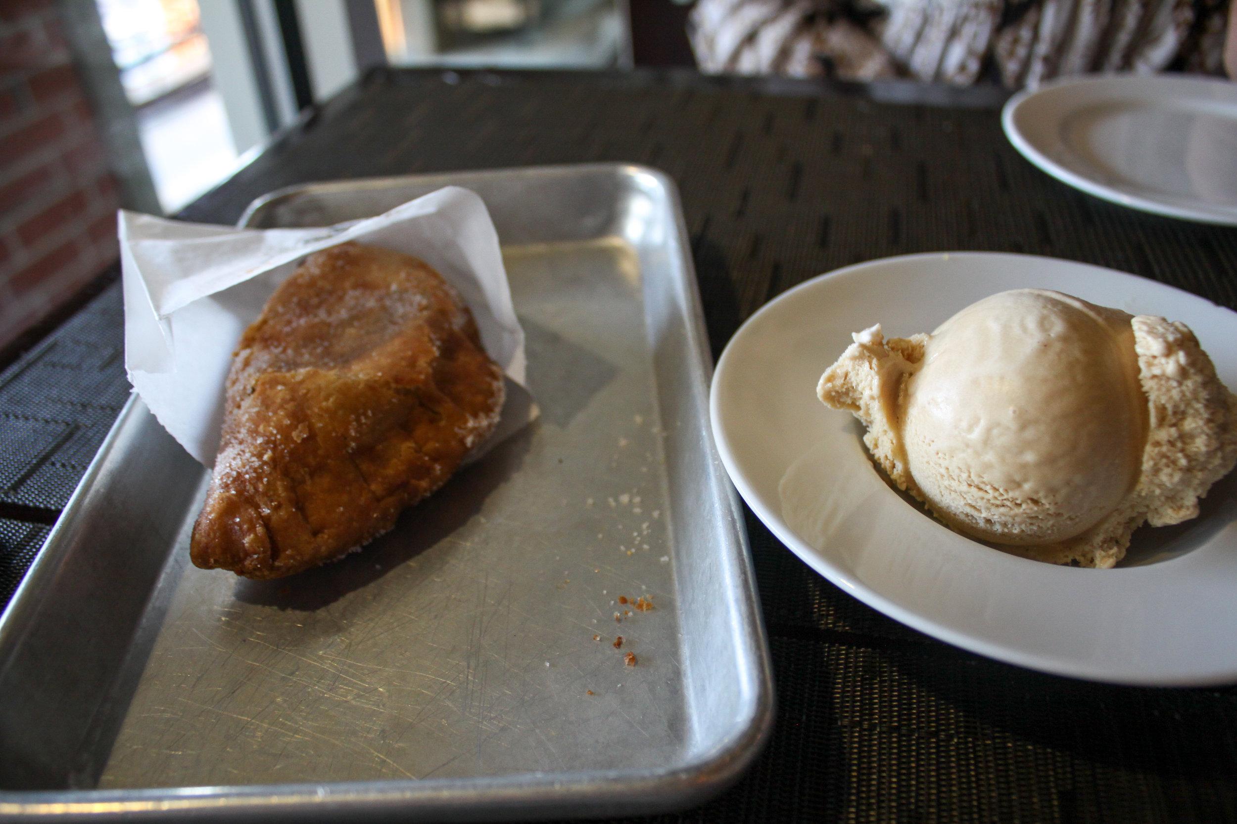 Chocolate Hand Pie + Ice Cream