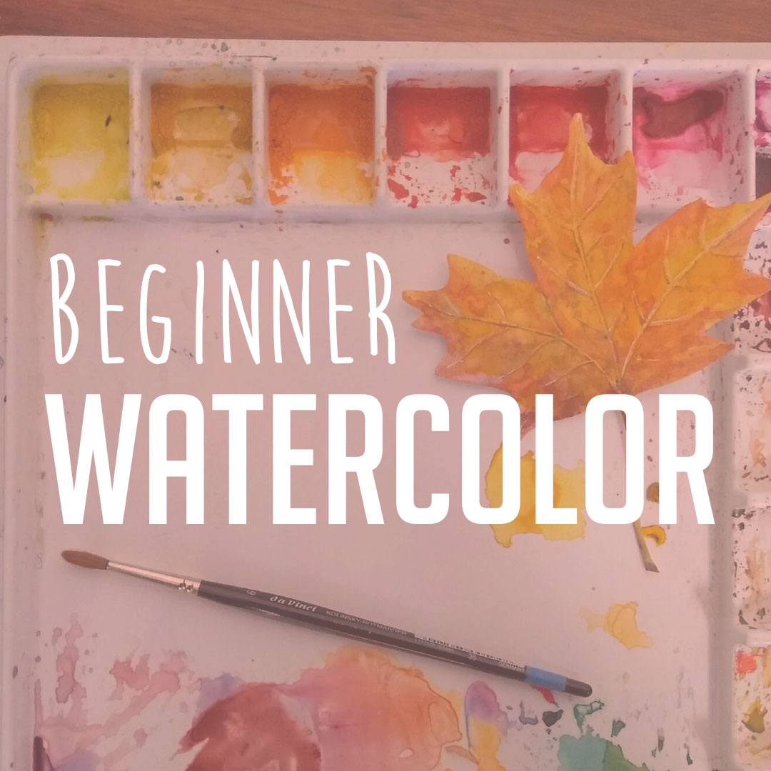 WATERCOLOR PAINTING - Learn the basic techniques of watercolor painting. By the end of the class, you'll have painted your own watercolor masterpiece!