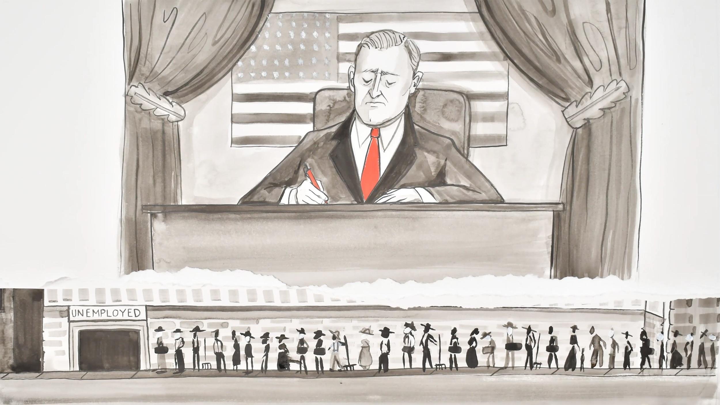 President Roosevelt painting
