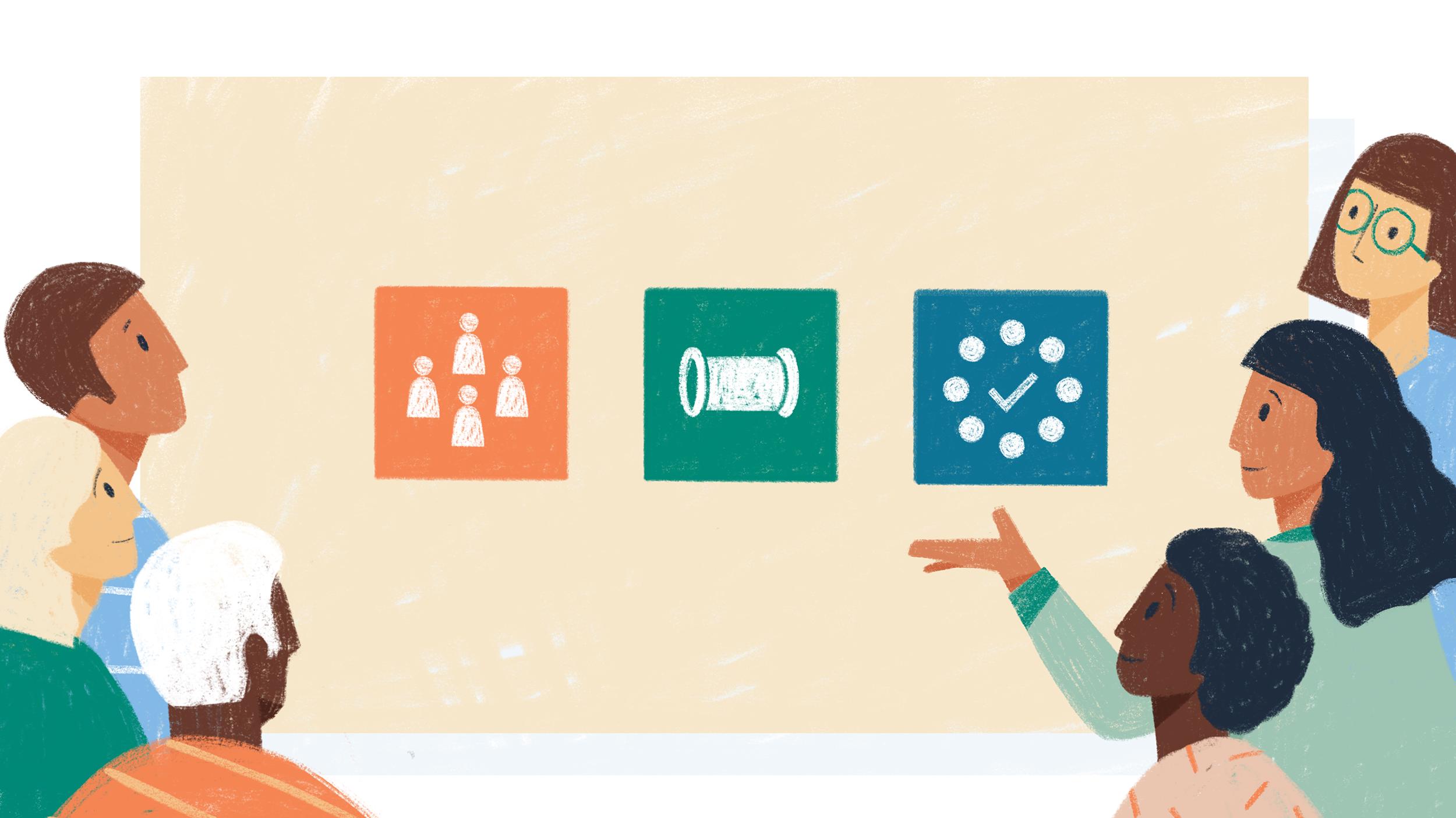 Digital Illustration for the Center for Community Investment.