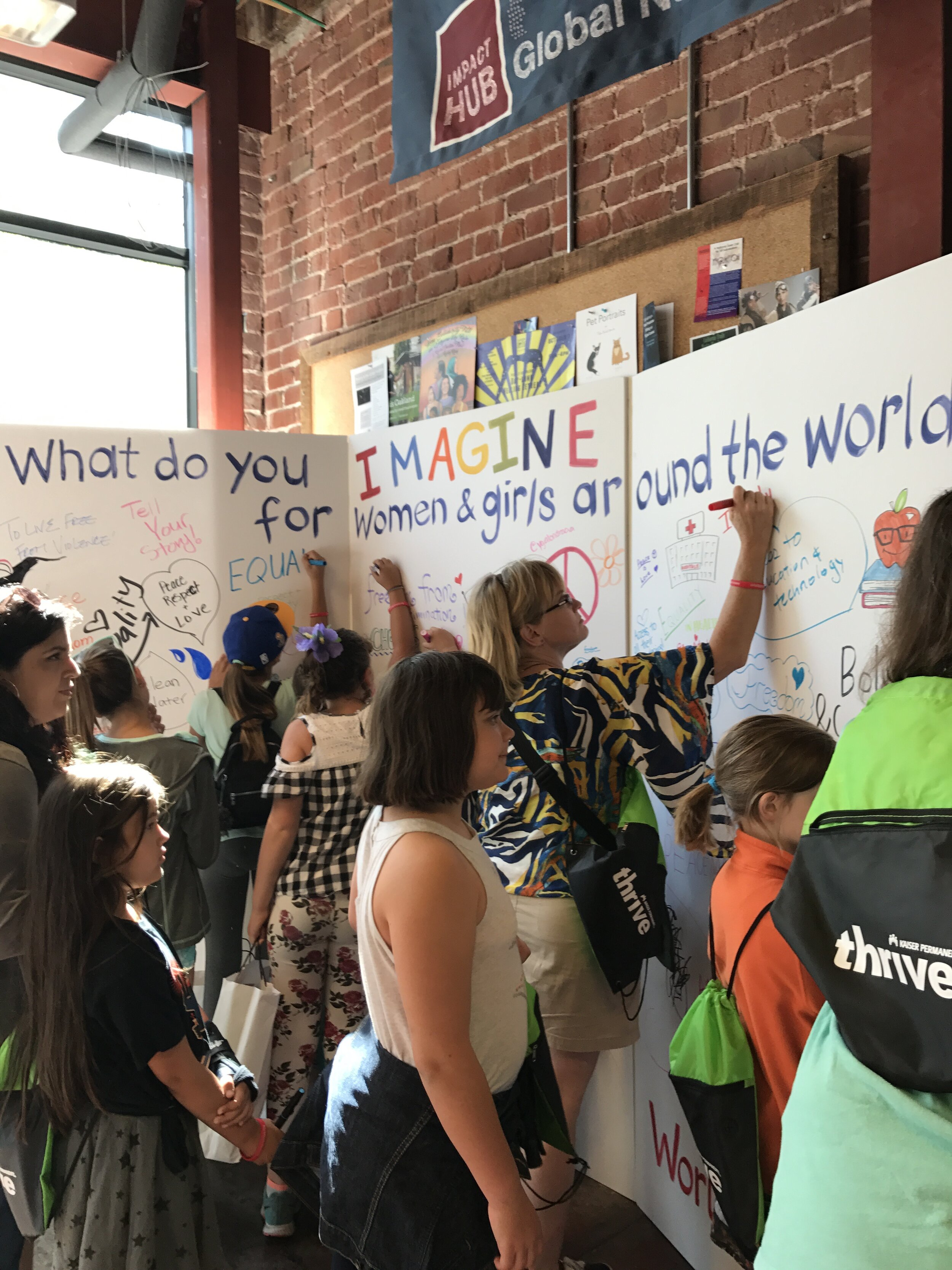 Event engagement at World Wide Women's Festival. San Francisco Bay Area visual notetakers.