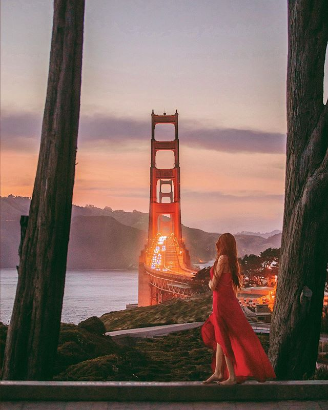 My babe @postcardsfrom.tina came to visit me in SF from LA 💛 We road tripped the whole crazy city and checked out the sunset from a different angle