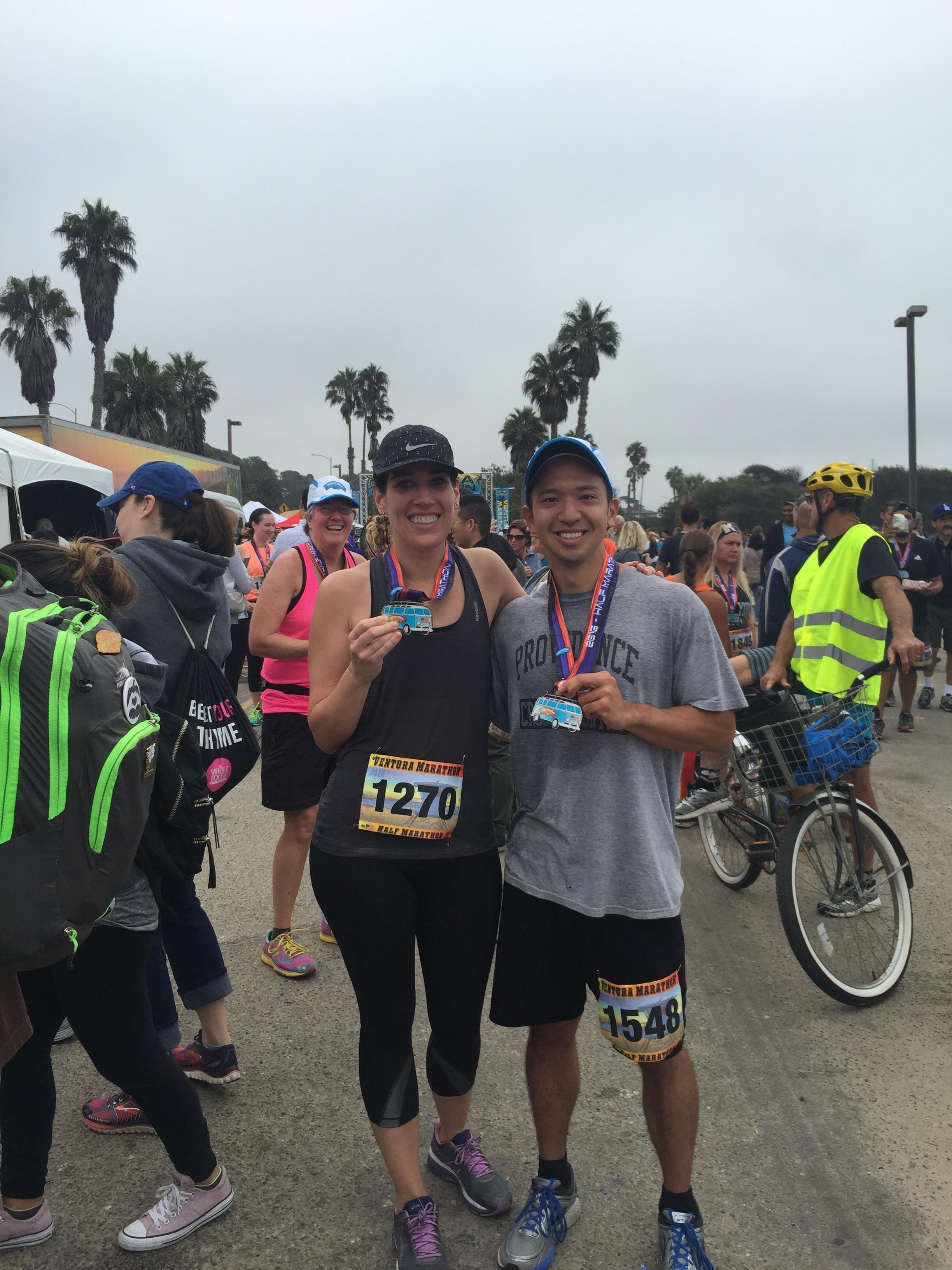 Ran a half marathon with my super friend-client Megan who's in training to PR a marathon!