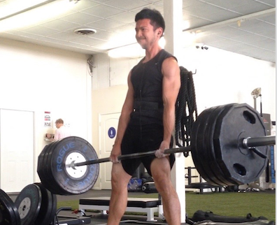One of the last times I deadlifted 400+ off the platform, of course my client only took a photo instead of a video