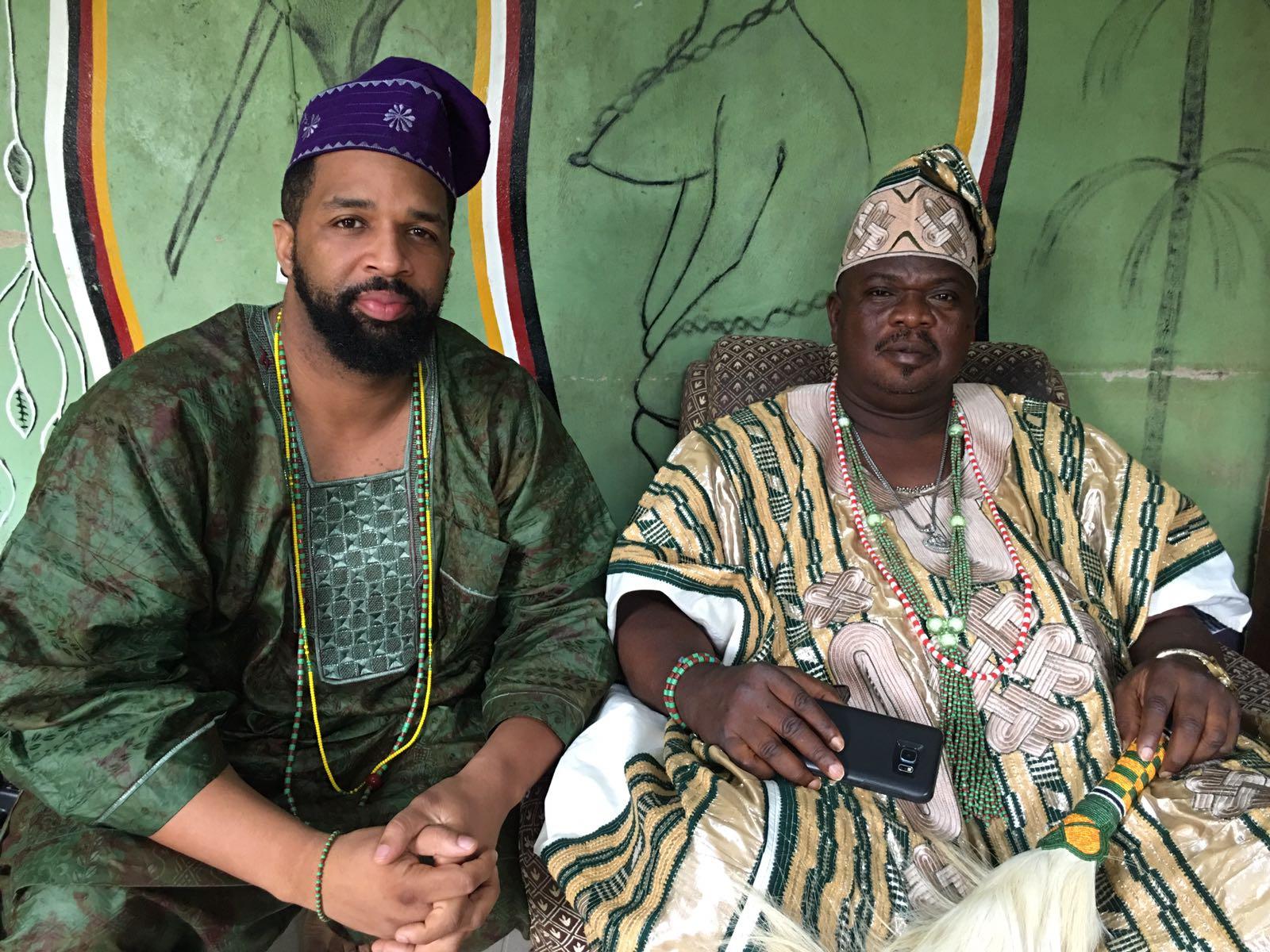 Chief Awósanmí Ò   ṣ   untógùn Sékou Alájé and his Oluwo Agbongbon Fakayode Faniyi