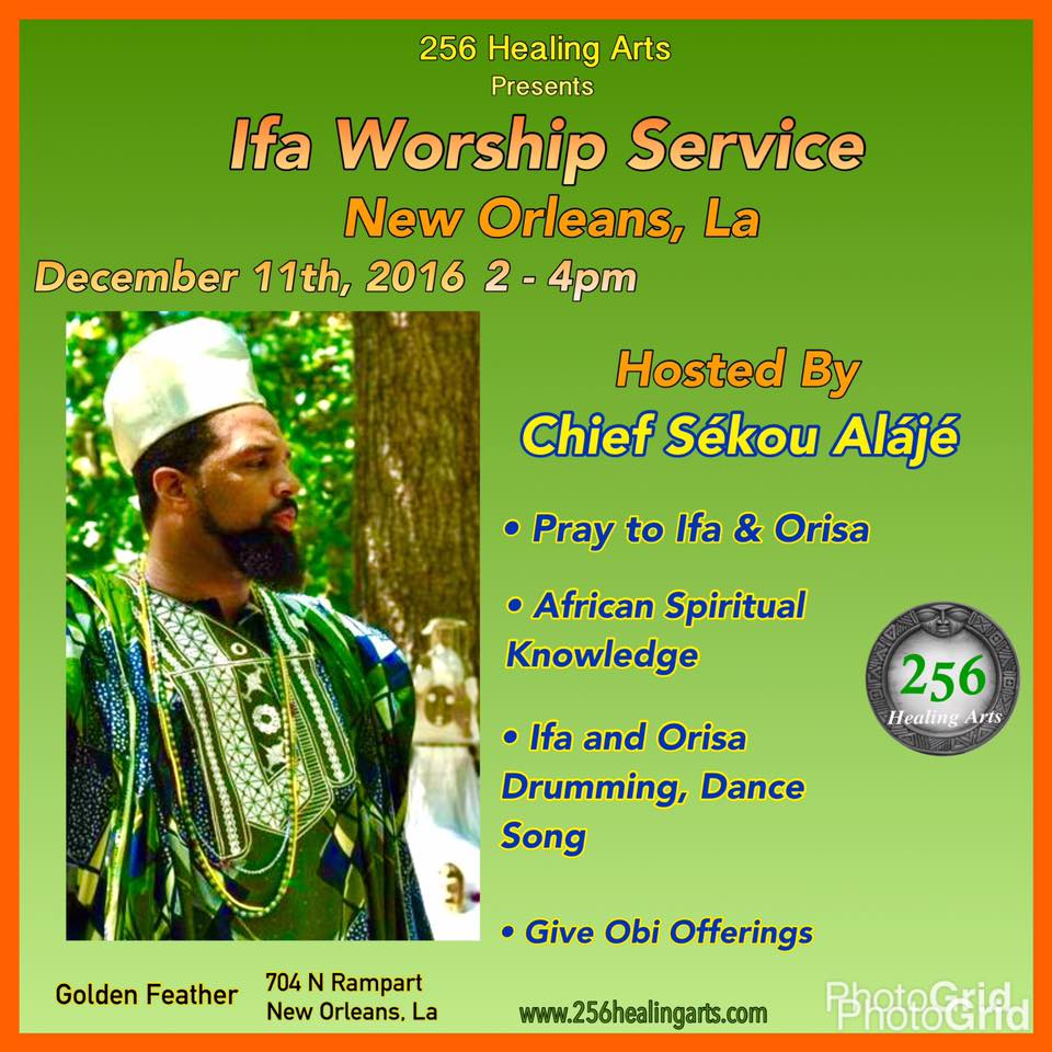 Pray, Dance, Sing, Learn and Fellowship in the name of Ifa and the Orisa!