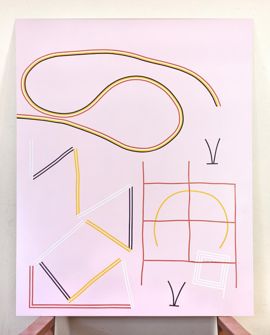 "Tools of manifestation  25"" x 30"", enamel on aluminum panel"