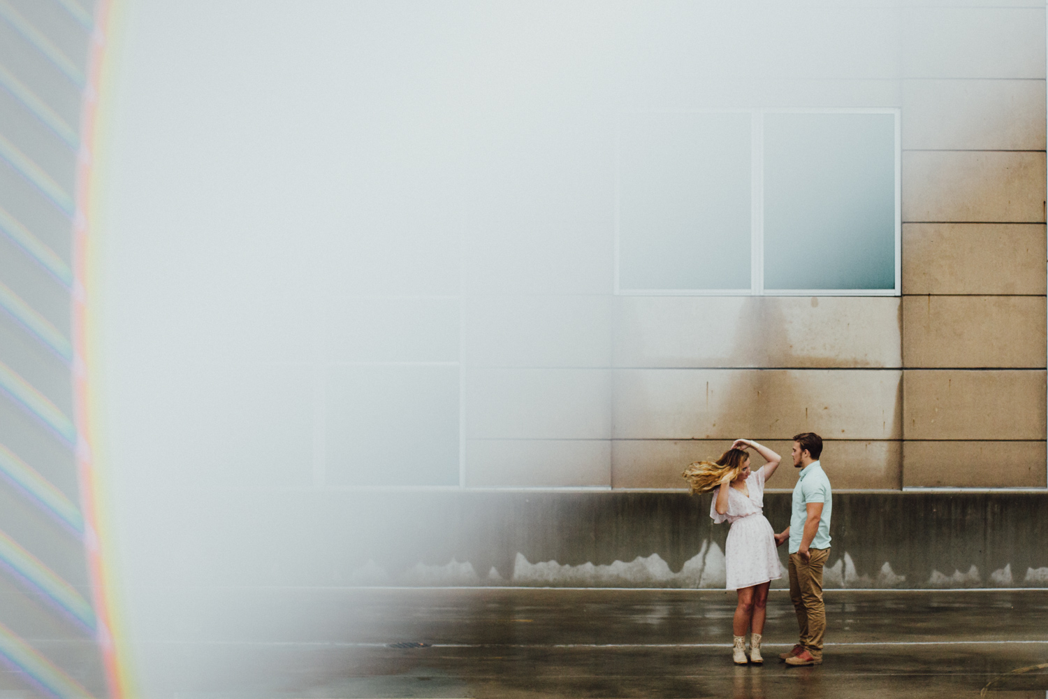 Rooftop Engagement Session, Fort Wayne, Indiana