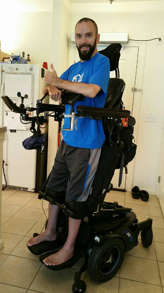 My Wheelchair that stands me up!