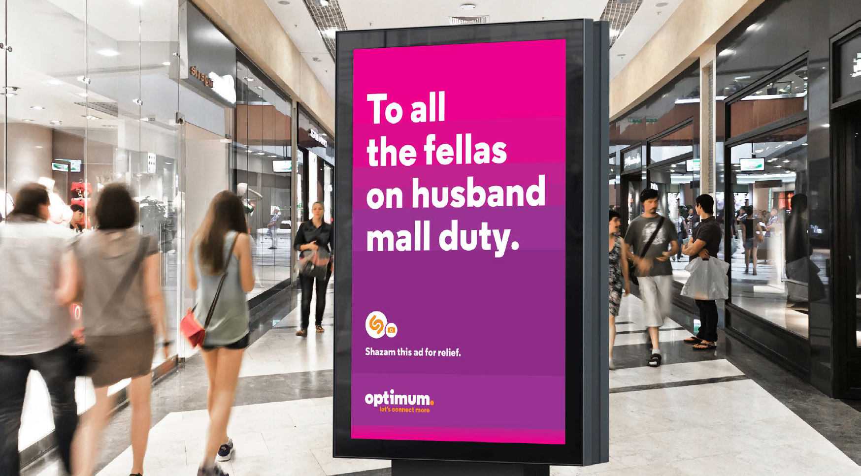 Consumers could receive content messages from Optimum to help relieve stress in situations where a little content relief is a welcome diversion from the daily grind. Another way of actually doing something to improve the connectivity in people's lives.   GEO FENCED DIGITAL  / Agency: Martin / Based on location