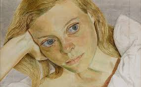 Portrait of Caroline by husband Lucian Freud