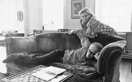 With second husband Robert Lowell