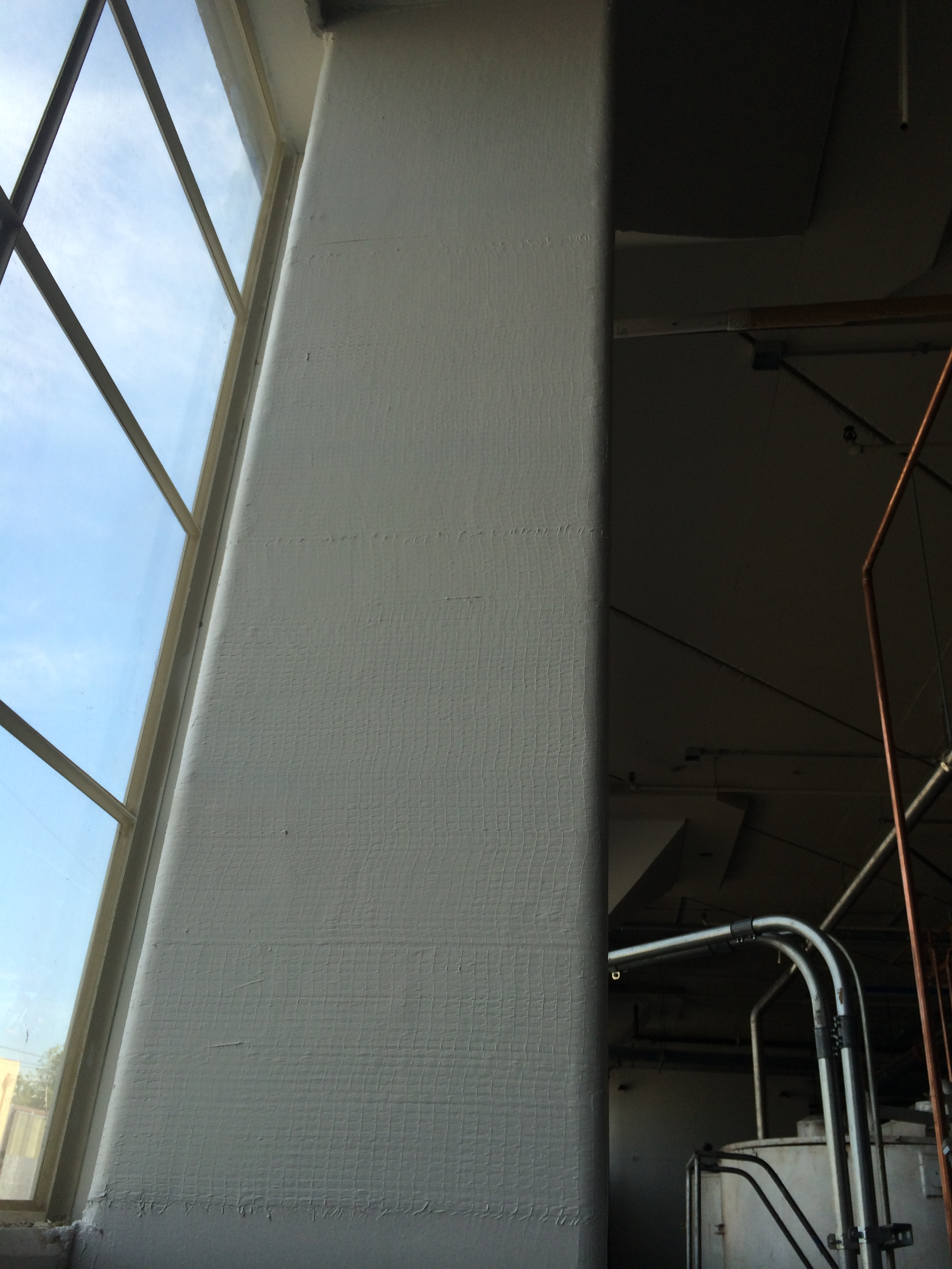 Fiber Reinforced Polymer FRP structural interior Column with Fire Resistant Coating.JPG