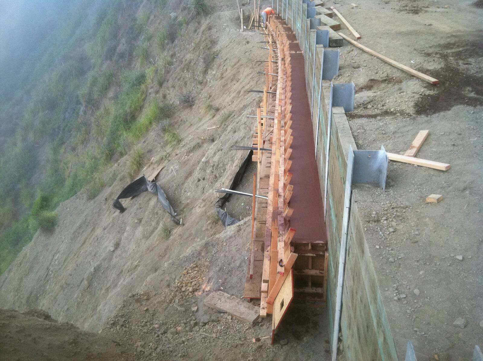 Welcome To Valentine Corporation   Project: Westport Retaining Wall  If It's Difficult Or Unusual, Call Us!   Contact Us