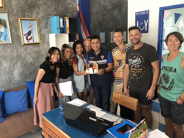It was our Kooke BD on the 8Th FEBRUARY. Happy year ahead 💐🎂🍷🍾 #delayposting  #birthday  #samui #Thailand #LanguageSchool #Friendship