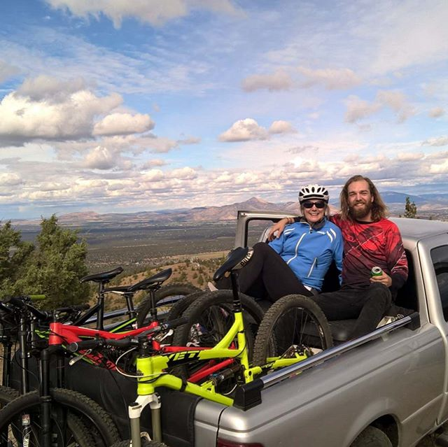Just shuttling some downhill mtb trails with my MOTHER today.  #LegenDana #igotitfromher