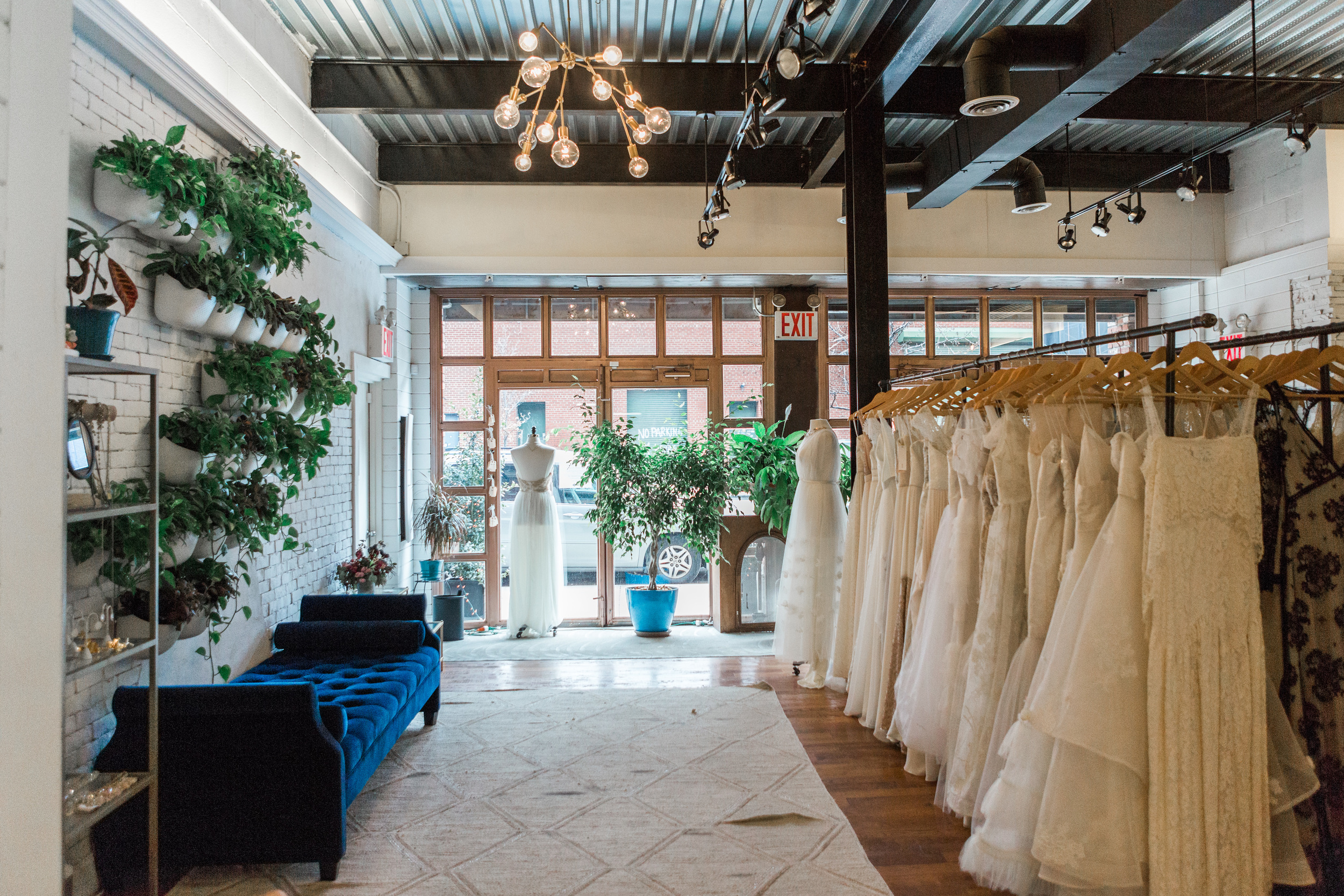 Our beloved Flagship shop, Schone Bride, located at the front of our design studio in Brooklyn, NY (photo by Diane Hu)
