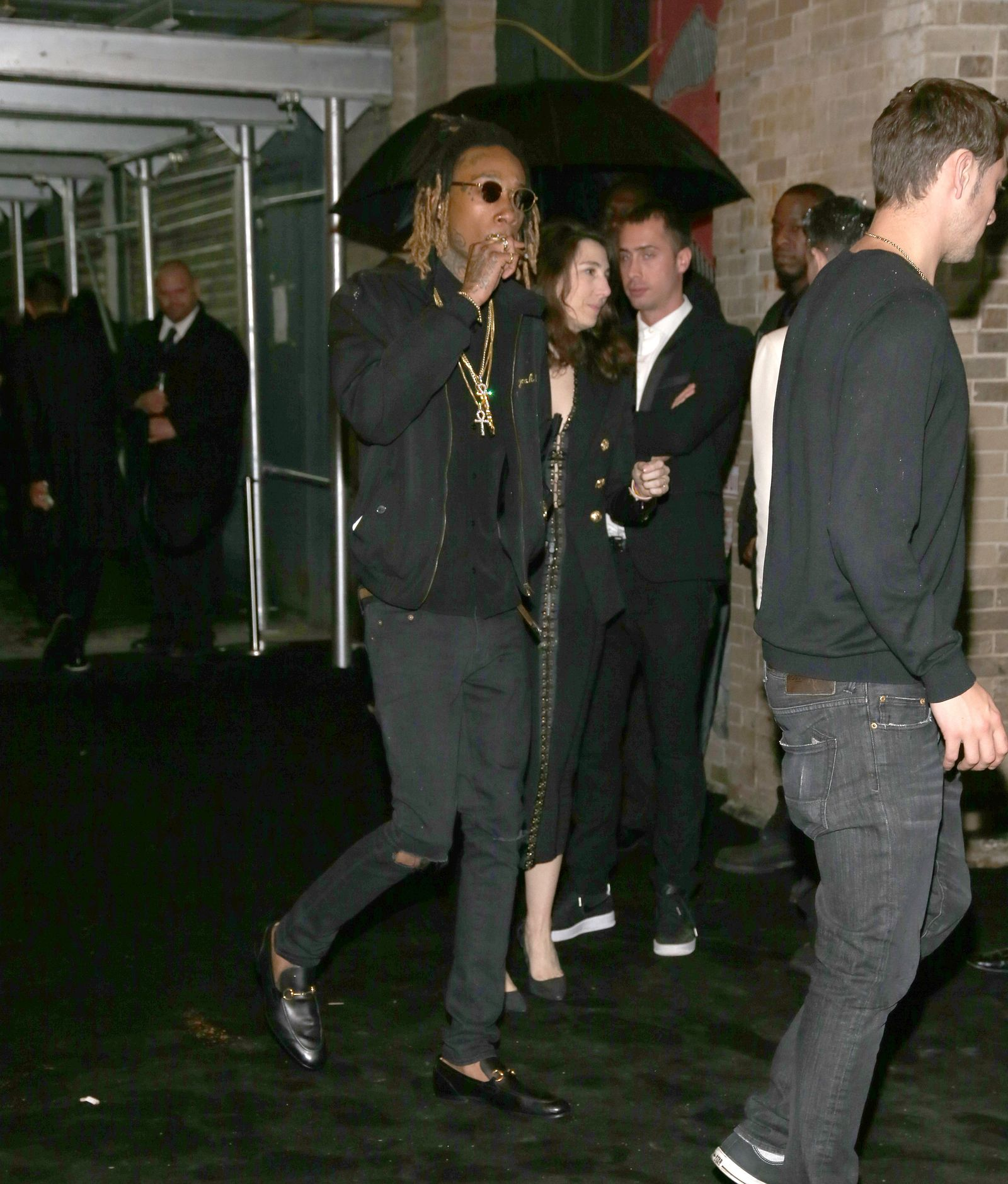 Whiz Khalifa at Gilded Lily 2016 Met Gala Balmain After Party