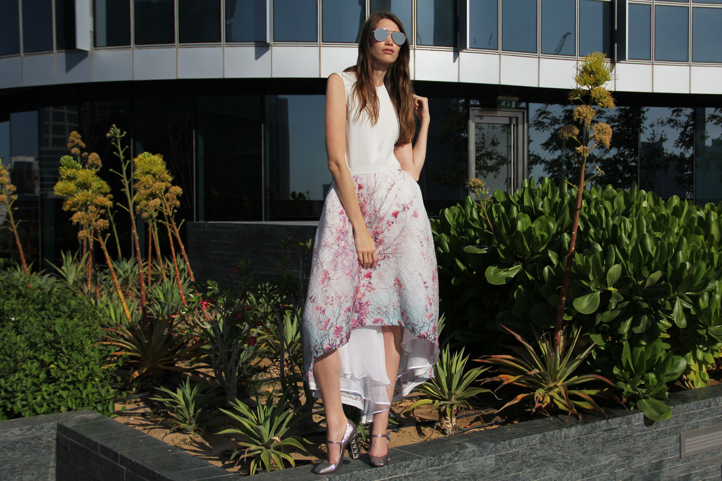 Adriana Iglesias SS16 Floral Skirt