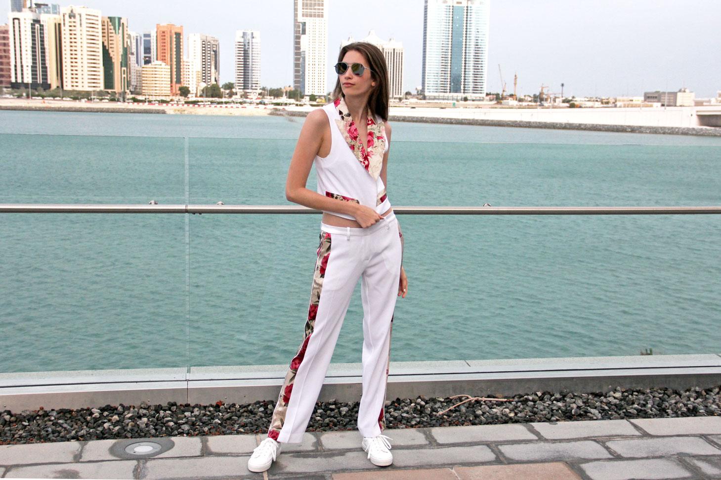 Adriana Iglesias SS16 White Floral Outfit
