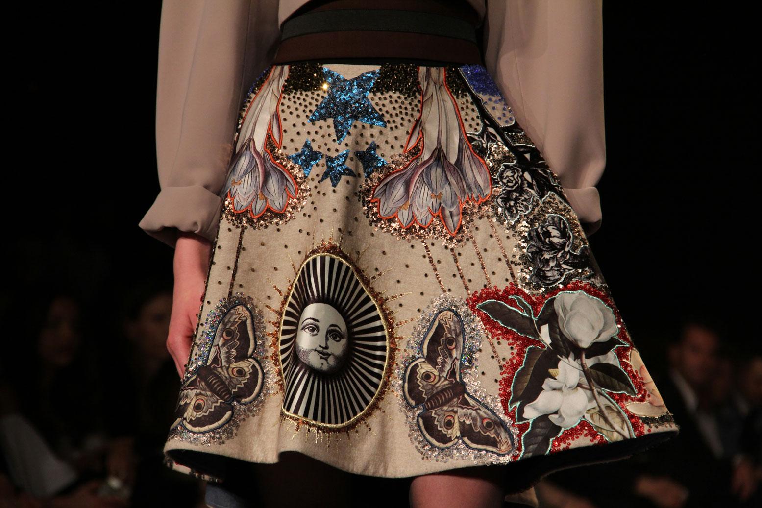 Hussein Bazaza Print Skirt 2016