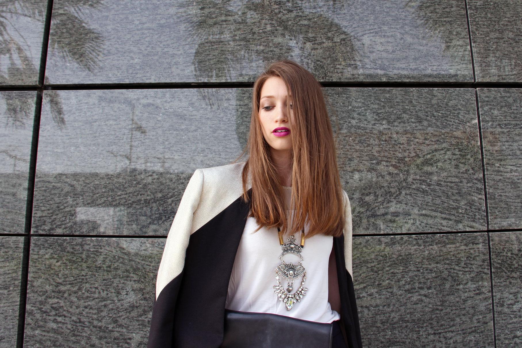 Blazer: Deborah Henning //Necklace: Laura Cantu ( similar )