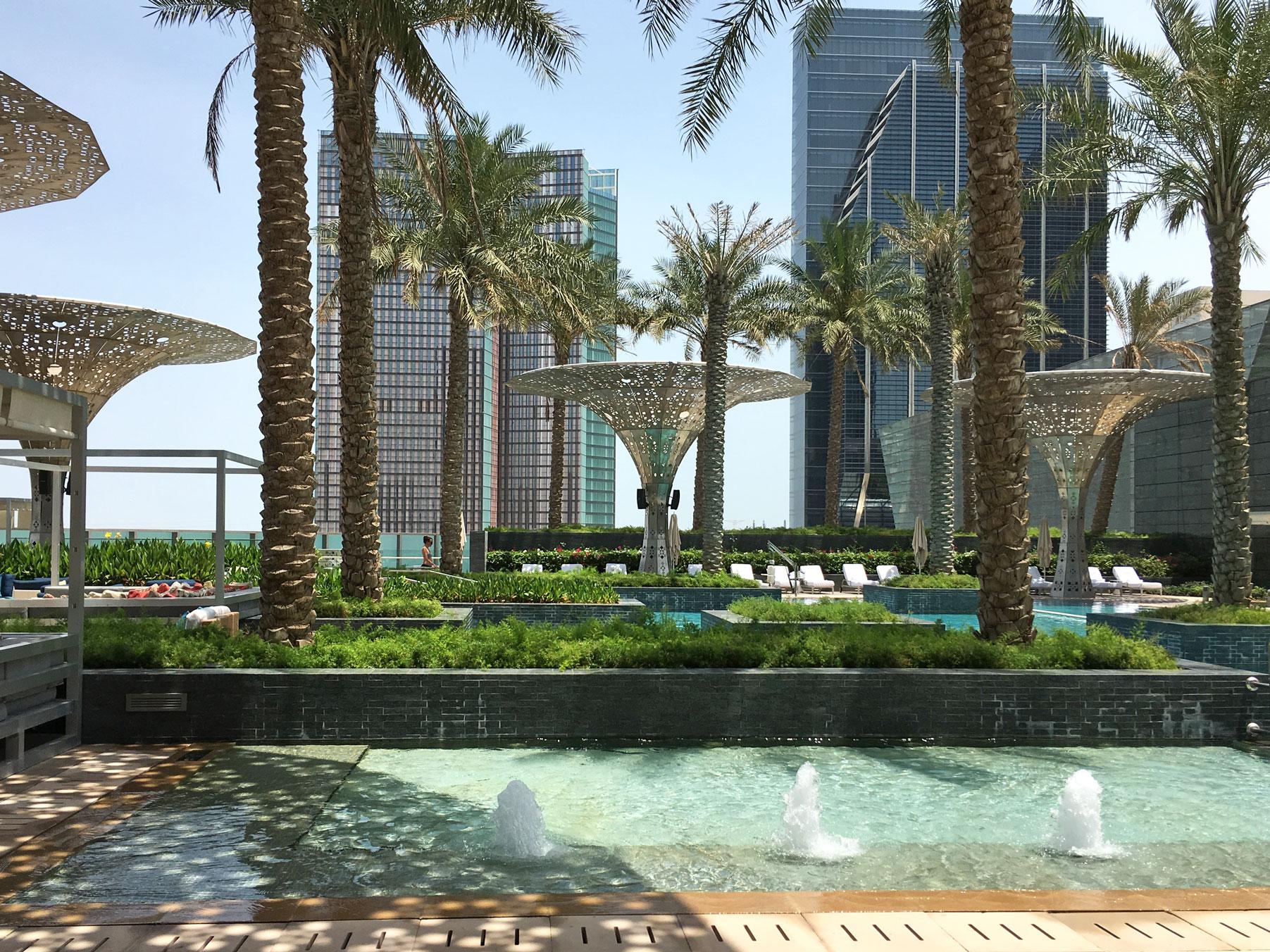 Pool views, Rosewood Abu Dhabi