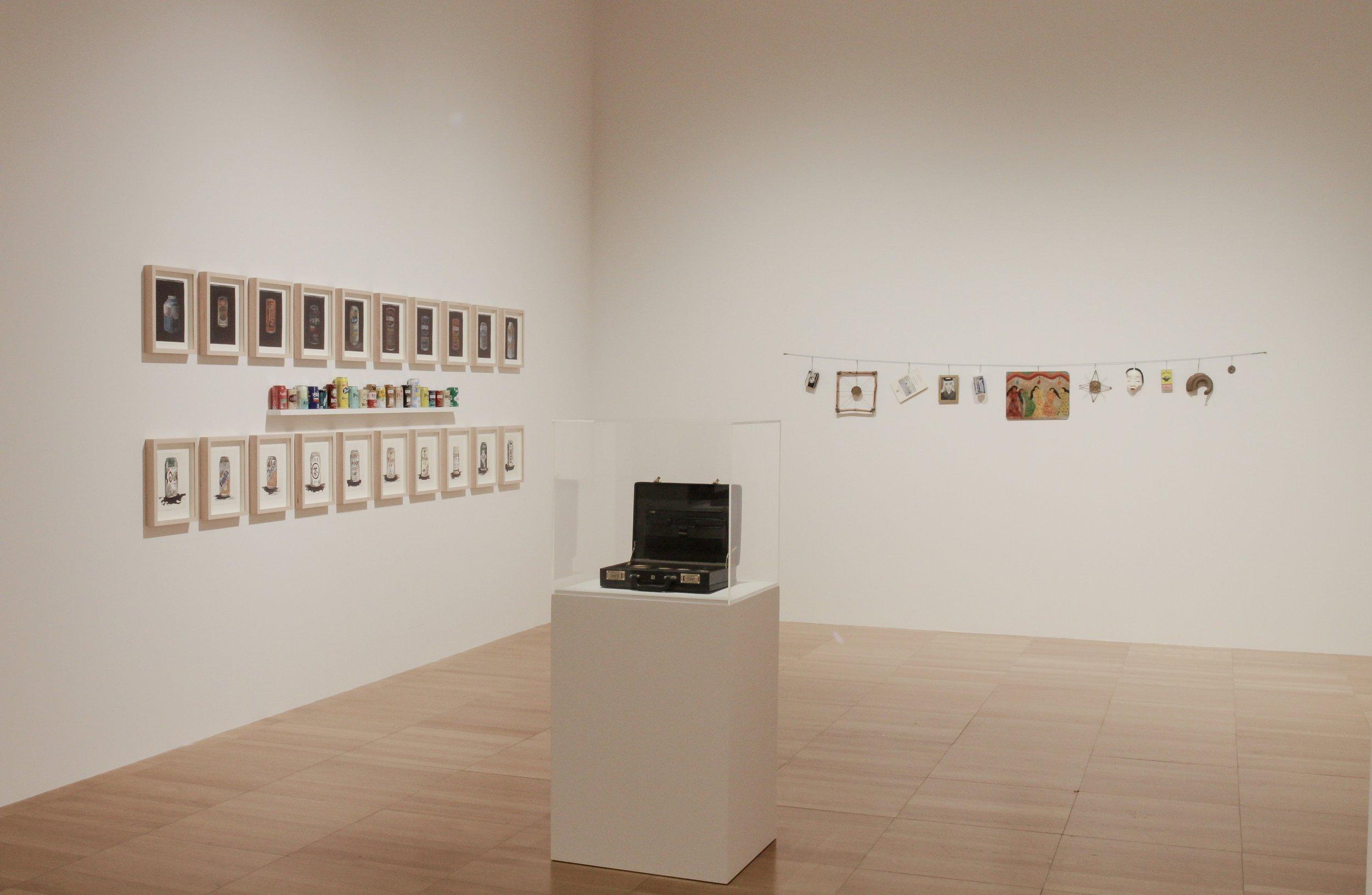 Installation view of Abdullah Al Saadi's works   Photo Courtesy NYU Abu Dhabi Art Gallery