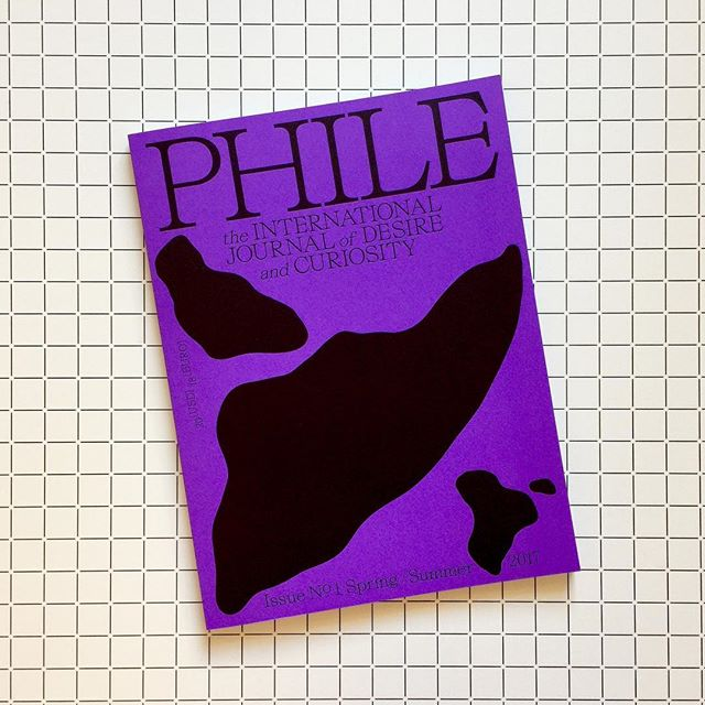 PHILE — The international journal of desire and curiosity. Editors in chief Michael Feswick (including art direction) & Erin Reznick, design direction by Julia Troubetskaia and Thomas van Ryzewyk