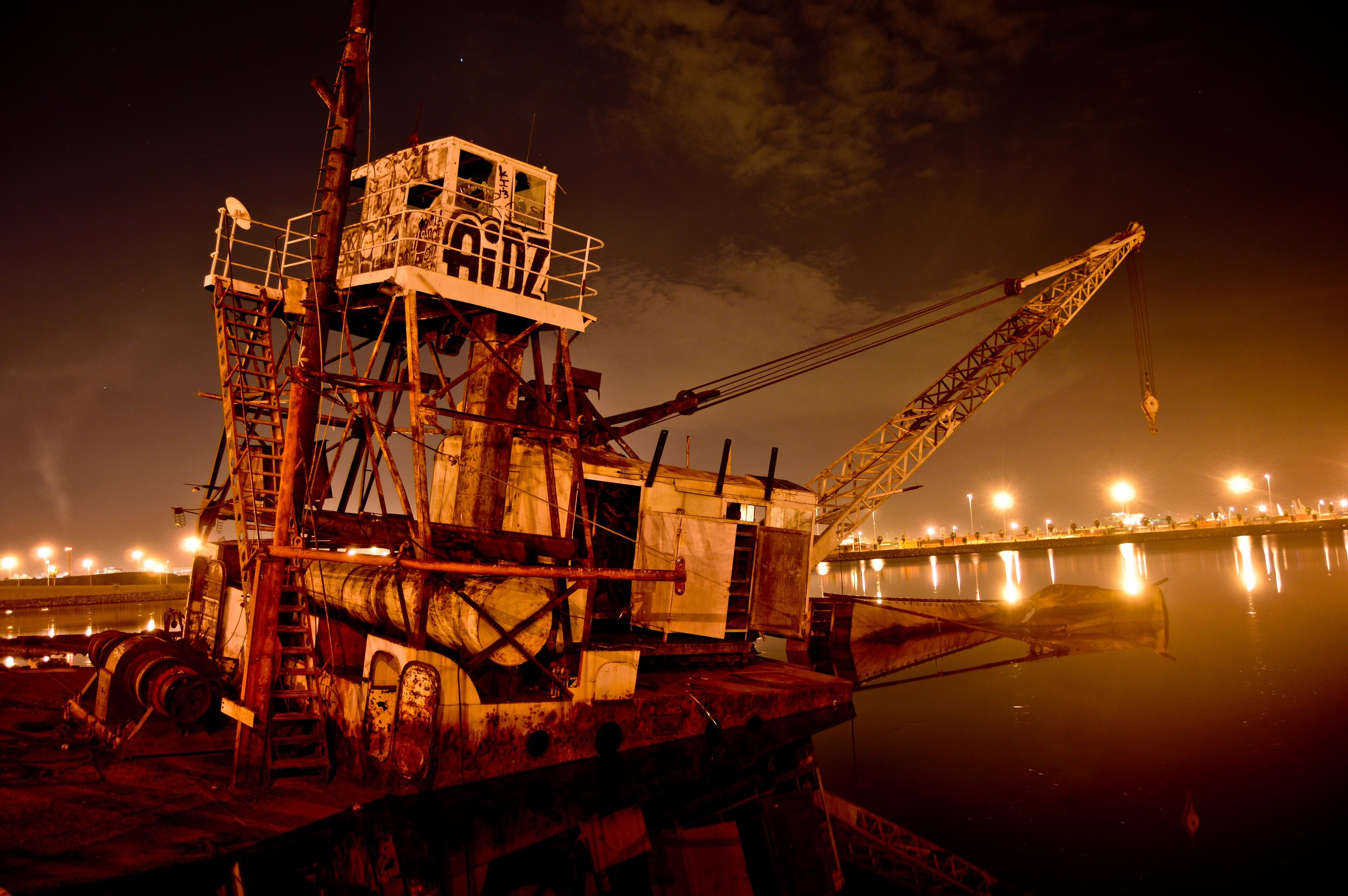 Abandoned dredger in the Port of Los Angeles. Photo: Joshua Stephens