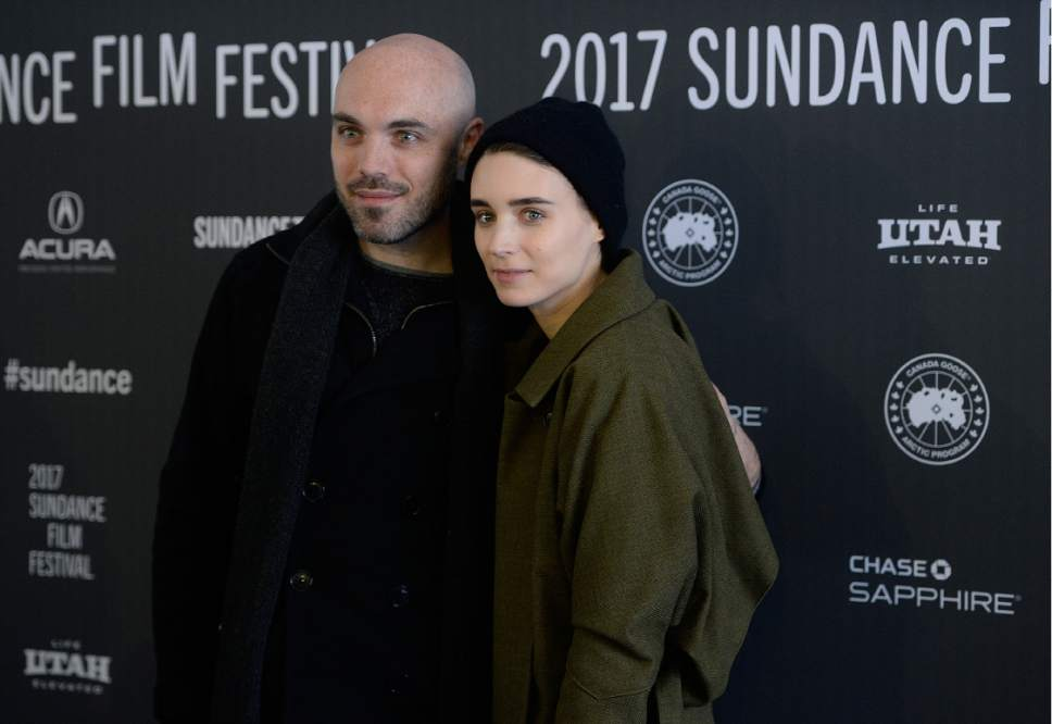 David Lowery and Rooney Mara at the 2017 Sundance Film Festival