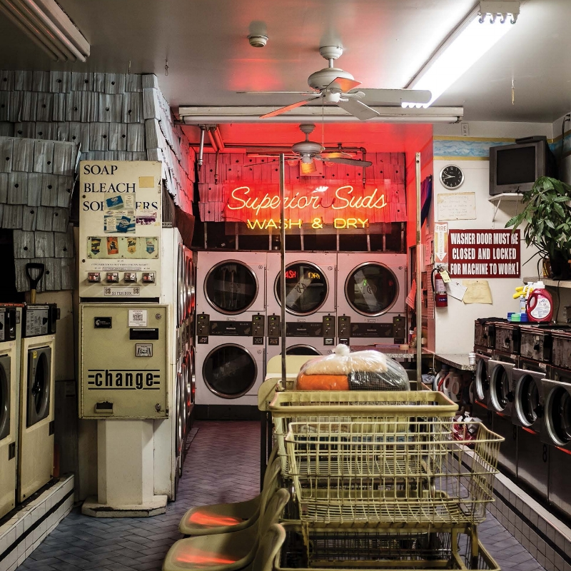 Superior Suds, Park Slope, Brooklyn NY. I lived down the block from here in 2003 and was fascinated with the interior neon. Once I picked up a camera again, I was happy to see the sign still remained. I shot this after hours, through the window. Photo: Leah Frances, @americansquares