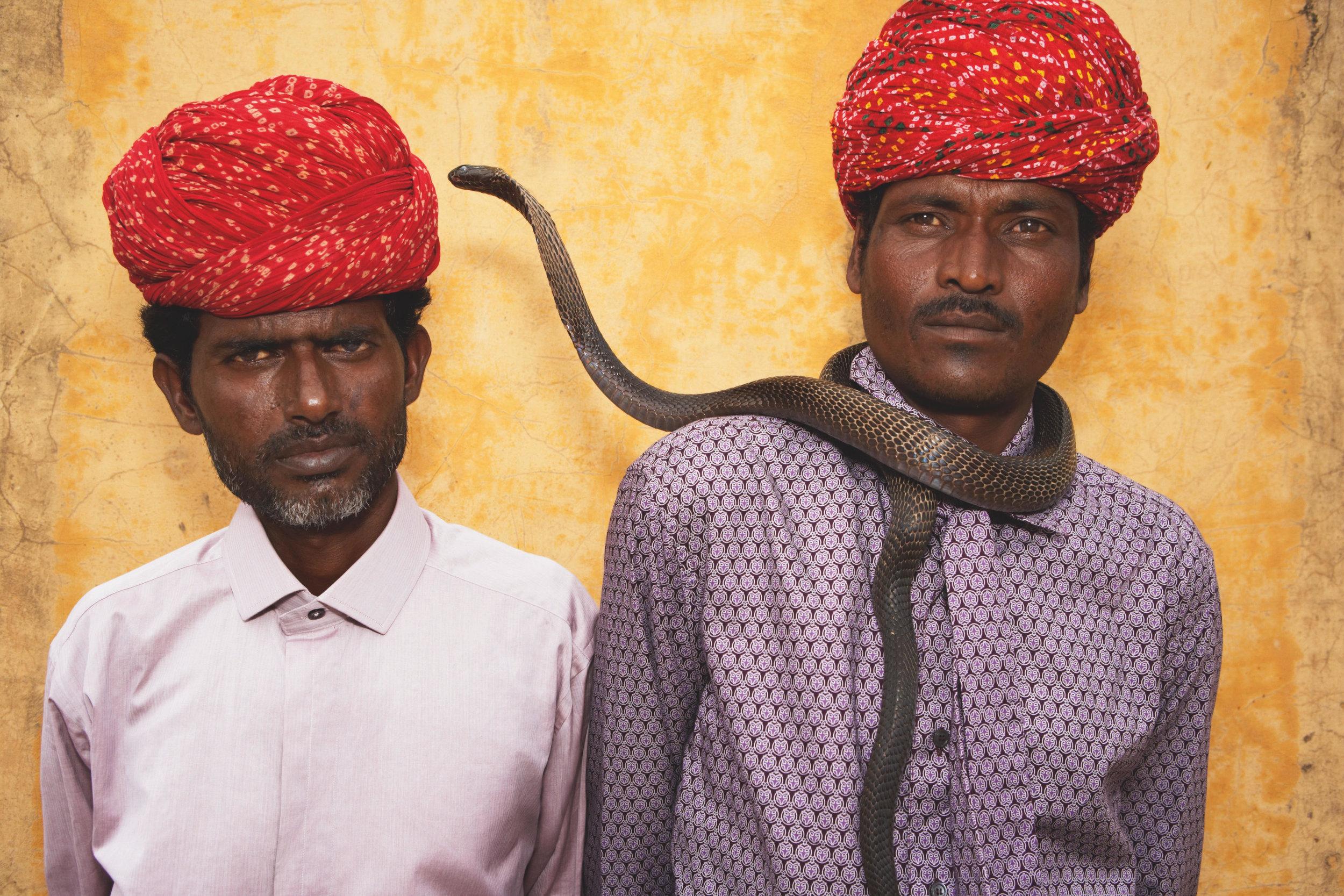 Brothers Harjinath and Kaliasnath Sapera. India.© 2017 Alice Hawkins