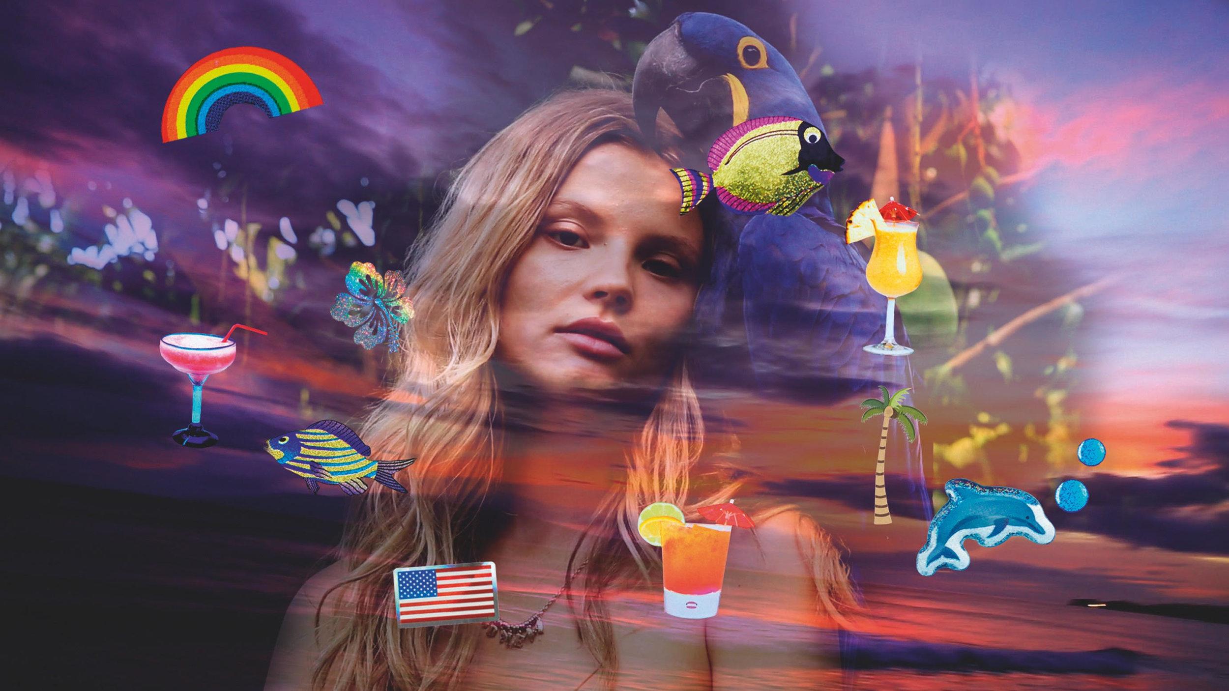 "Hawaii. Magdalena Frackowiak. ""Aloha from Alice"" film still.© 2017 Alice Hawkins"