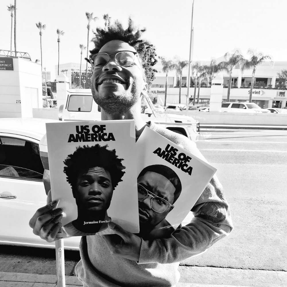 Jermaine Fowler showing  Us  some love.Photo: Jermaine Fowler.